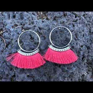 Jewelry - Coral/ Silver Earrings